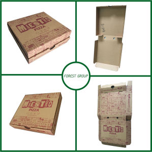 14 Inch Brown Pizza Paper Box with Flexo Printing pictures & photos