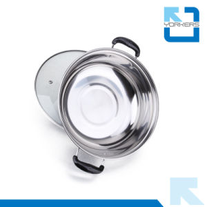 Hot Selling 28cm Double Handle Stainless Steel Chinese Hot Pot pictures & photos