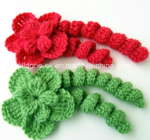 Hand Knit Crochet Curls Crafts Flowers Pigtail Braid Manufacturer Factory pictures & photos