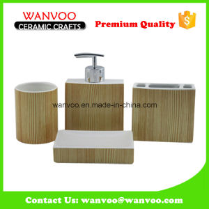 Roasted Finish modern Ceramic Bathroom Accessories Set pictures & photos
