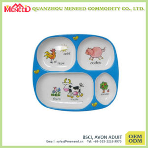 Food Safety 100%Melamine Kids Dinner Plate pictures & photos