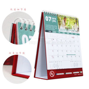 Customizable 250GSM Art Paper Monthly Desk Calendar pictures & photos