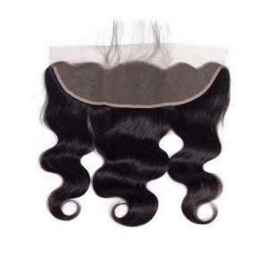 "Top Virgin Hair Closure 4""X13"" Silk Invisible Part Closure Peruvian Virgin Hair pictures & photos"