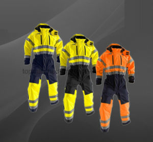 High Visibility Refelctive Winter Boiler Suit Safety Coverall for Worker pictures & photos