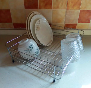 Extension-Type, Draining Dish Rack, Kitchen Tableware Implements Plate Dish Rack pictures & photos