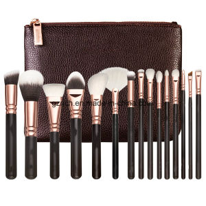 5PCS Makeup Brushes Set High Quality Synthetic Hair with PU Leather Case pictures & photos