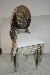 Congling Stackable Bulk Chairs Gold Wholesale White Chair (B8030)