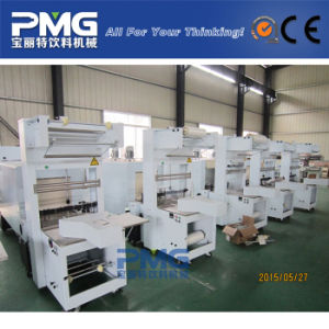 Semi Automatic PE Film Shrink Wrapping Machinery for Water Bottle pictures & photos