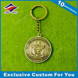 Plating Coin Shape Keychain Antique Coin Keychains Medal Keychain pictures & photos