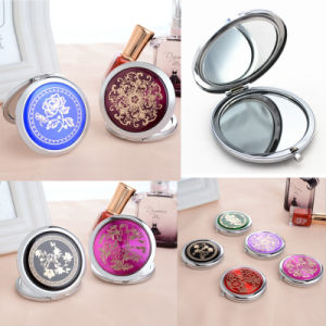 Promotional Gift -Customized Round Portable Cosmetic Compact Pocket Mirror