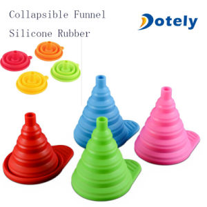 Large Silicone Gel Collapsible Funnel Hopper Kitchen Tools pictures & photos
