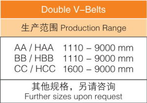 Hexagonal Belts/ Double V Belts AA Bb Cc pictures & photos