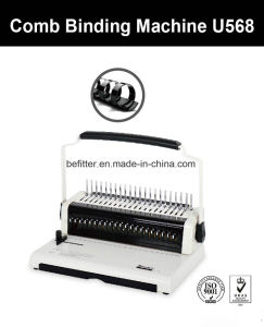 U568 U Handle A4 Size Comb Binding Machine pictures & photos