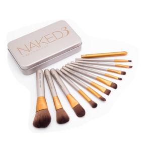 12PCS Stock Wholesale 12PCS Natural Hair Professional Makeup Brush Set pictures & photos