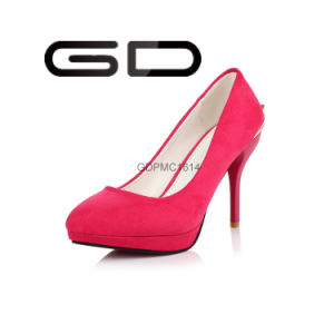 Manufacture Supply Big Size Red High Heel Pumps Shoes pictures & photos
