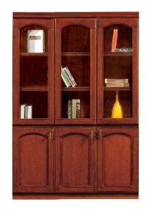 MDF Veneer Glossy Wood Cupboard Office Bookcase Filing Cabinet (NS-SL165) pictures & photos