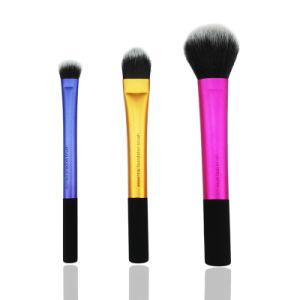 3PCS Multifunction Travel Makeup Foundation Powder Eye Shadow Brushes Set pictures & photos