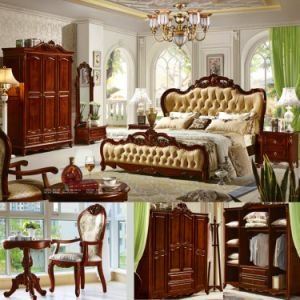 Wooden Bed for Bedroom Furniture Set pictures & photos