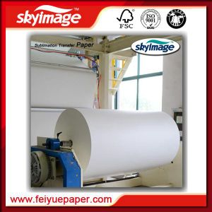1.6m (63inch) Anti-Curl Jumbo Roll 57GSM Sublimation Transfer Paper Roll pictures & photos
