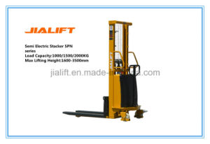 Lifting Height 3 Meter, 1.5ton Semi Electric Stacker (SPN1530) with Ce Certification pictures & photos