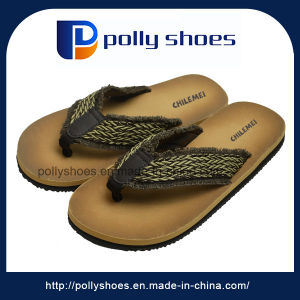 Customized Logo Pedicure Casual Beach Brown Foam Men Flip Flops pictures & photos