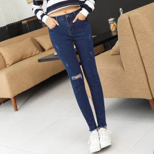 2017 Wholesale Fashion Jeans for Lady pictures & photos