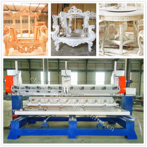 3D CNC Wood Engraving Machine / 5 Axis Multi Spindle CNC Router pictures & photos