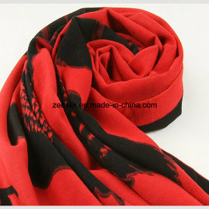 Acrylic Fashion Red Woven Scarf pictures & photos