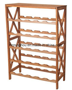 Classic Wood 25 Bottle Wine Shelve Wine Rack for Storage pictures & photos