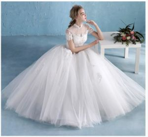 2017 Organza Ruffle Bridal Wedding Gowns (WD14105) pictures & photos