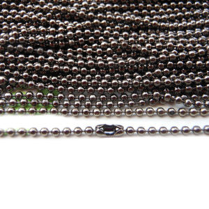 Fashion Gunmetal Color Ball Chain with Couplings pictures & photos