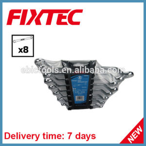 Fixtec Hand Tools Hardware Portable 8PCS Carbon Steel Offset Ring Spanner Set pictures & photos