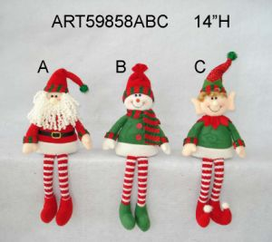 Santa, Snoman and Elf Christmas Decoration Gift Self Sitter-3 Asst pictures & photos