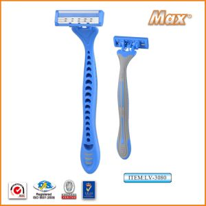 Triple Blade Stainless Steel Blade Disposable Shaving Razor pictures & photos