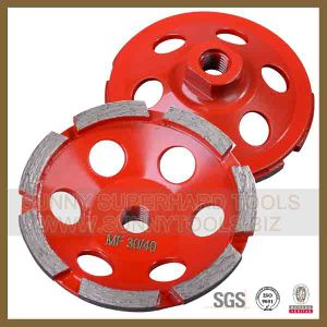 Single Row Diamond Cup Wheel for Grinding Floor pictures & photos