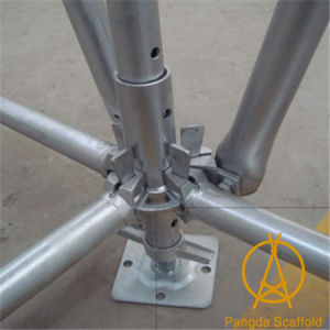 48X3.25mm High Grade Hot DIP Galvanized Ring Lock Steel Scaffold System pictures & photos