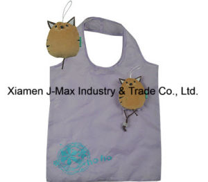 Foldable Shopping Eco-Friendly Bag, Animal Cat Style, Reusable, Grocery Bags and Handy, Promotion, Lightweight, Accessories & Decoration, Tote Bags pictures & photos