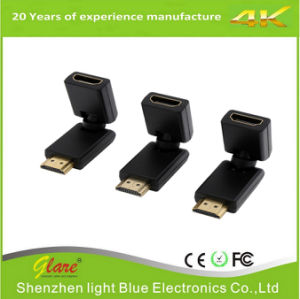 Gold Plug Rotation HDMI Adapter pictures & photos