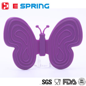 Kitchen Decoration Butterfly Shape Silicone Pot Holder Mitt Oven One Set 2PCS pictures & photos
