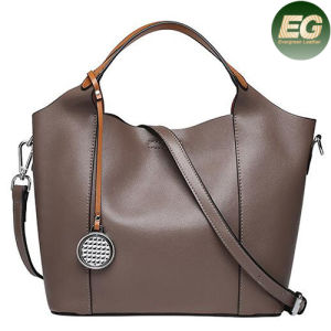 Genuine Leather Handbags Famous Designer Lady Tote Bags with Accessories Emg4854 pictures & photos