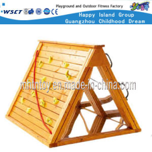 Wooden Outdoor Playground Equipment Climbing Outdoor Play (HF-19201) pictures & photos