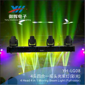 RGBW 4 in 1 LED Beam Stage Bar Light 4 Heads Moving Beam Head Light pictures & photos