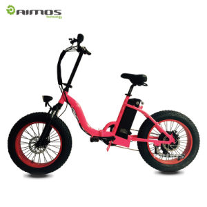 Cruiser Handlebar 20inch Fat Tire Folding Elctric Bike Made in China pictures & photos