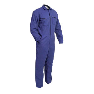 Factory Grey Color Flame-Resistant Coveralls with Reflective Tape pictures & photos