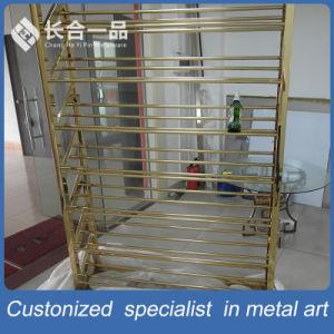 Wholesale Customized Mirror Ti-Gold Wine Display Rack pictures & photos