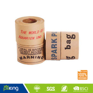 Wet Water Fiber Kraft Paper Tape pictures & photos