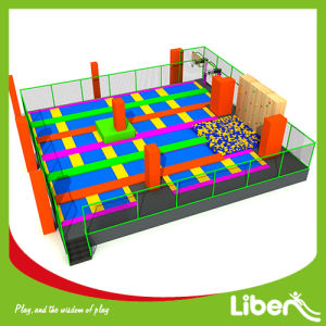 Build Kids Indoor Jumping Gym Trampoline with Colorful Mat pictures & photos