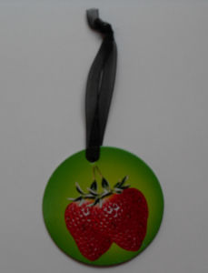 Circle Shape Strawberry Design Hangtag pictures & photos