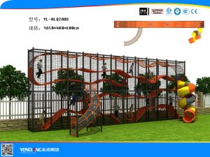 Multifunctional Playground Set Wall-Holla Series Slide Combine Climbing for Sale (YL-HLQ2003) pictures & photos