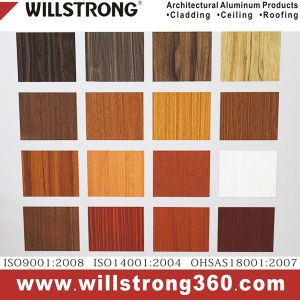 Willstrong Wood Texture Aluminum Composite Panel for Docoration Material pictures & photos